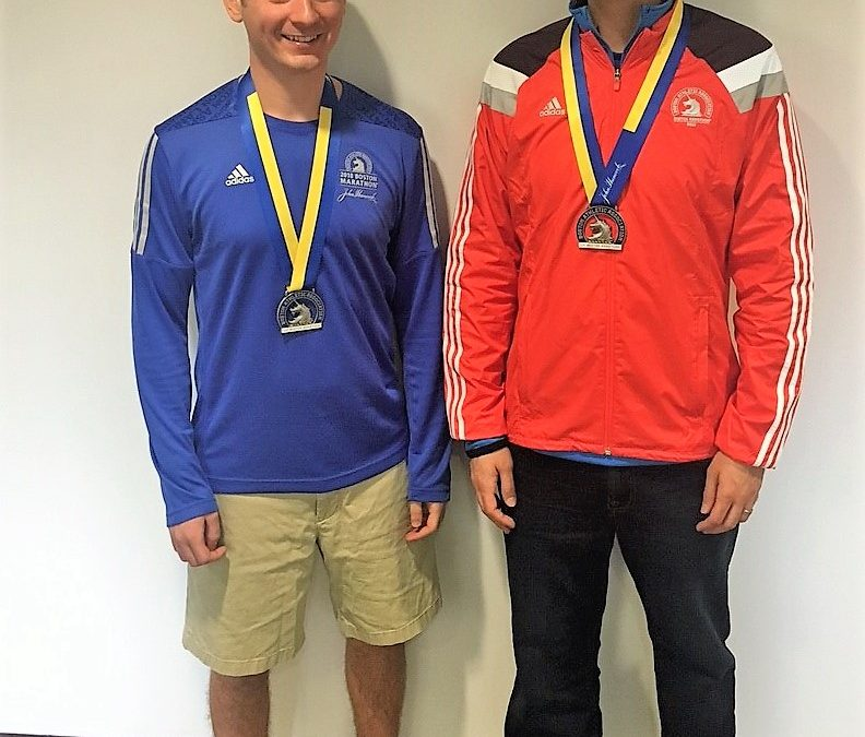 CONGRATULATIONS To Matt Lite & John Gardella On Boston Marathon
