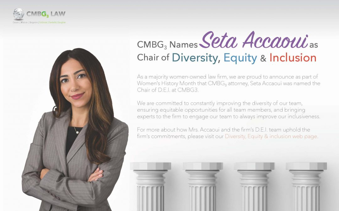 Seta Accaoui Named Chair of CMBG3 DEI Committee