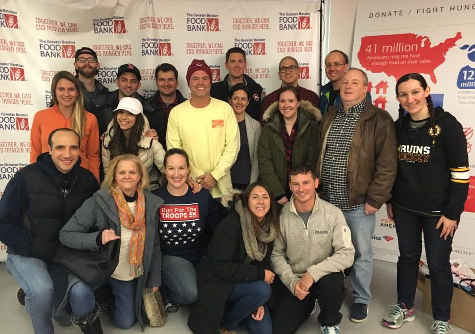 CMBG3 Volunteers At Greater Boston Food Bank To Honor Veterans