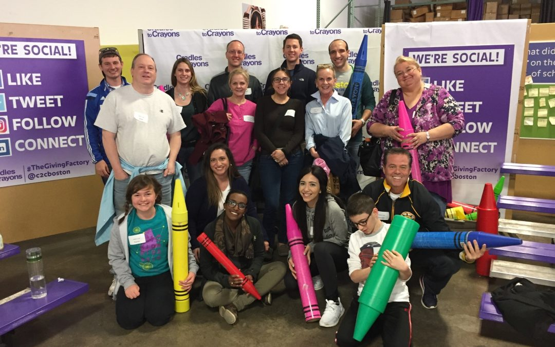 CMBG3 Law Proudly Volunteers At Cradles To Crayons On One Boston Day